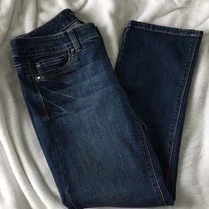 WHBM Crop Dark Denim Jean